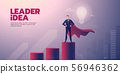 Businessman leadership banner with text 56946362