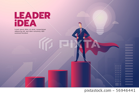 Businessman leadership landing page with text 56946441