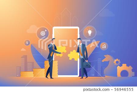 Businessman cooperate startup team illustration 56946555