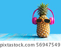 Summer in the party.  Hipster Pineapple Fashion  56947549