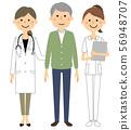 白色外套的女性護士患者 56948707