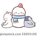 雪人,北極熊和企鵝小雞 56950106