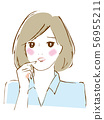 여성 포즈 불안 56955211