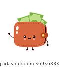 Cute happy money banknote wallet 56956883