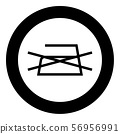 Prohibited Ironing is not allowed Clothes care symbols Washing concept Laundry sign icon in circle 56956991