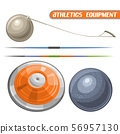 Vector set for athletics 56957130
