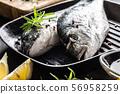 Mediterranean fish bream with spices salt herbs 56958259