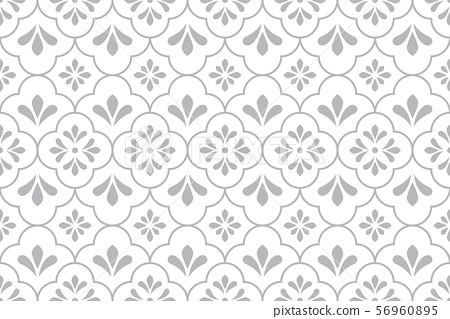 Flower geometric pattern. Seamless vector 56960895