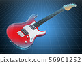 Visualization 3d cad model of electric guitar 56961252