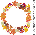 Illustration of autumn wreath 56968850