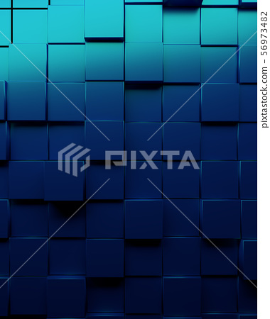 Metallic blue cubes background 56973482