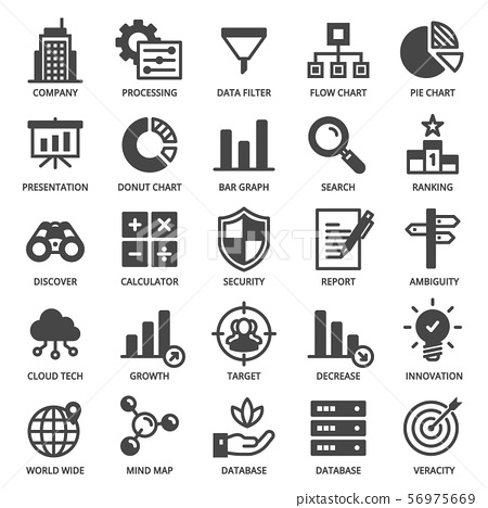 Big Data Analytics Icon Set 56975669