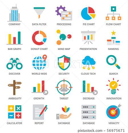 Big Data Analytics Icon Set 56975671