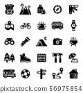 Camping Icon Set - This is a set of camping icons. 56975854