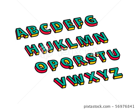 Isometric 3D Text - This is a isometric text. 56976841