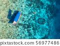 Gili Meno Island, Indonesia. Aerial view. 56977486