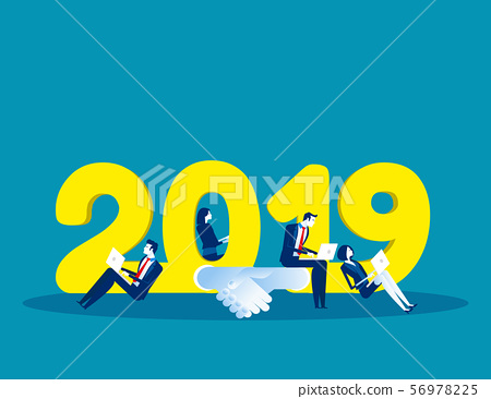 2019 Growth and success. Concept business vector 56978225