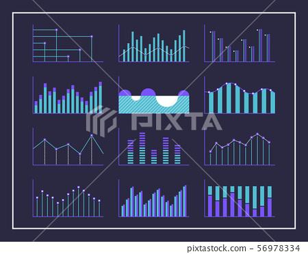 Modern Infographic Design Chart Set 56978334