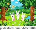 동물 그림 1 [토끼, 숲] 56978888