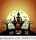 萬聖節 城堡 月亮 56981710
