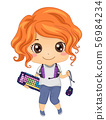 Kid Girl Online Gamer Gadgets Illustration 56984234