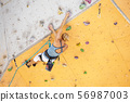 climbing, wall, woman 56987003
