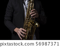Male Jazz Saxophone Player Performance 56987371