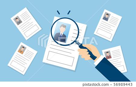 Recruitment, illustration image of personnel