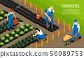 Farmer Isometric Horizontal Composition  56989753