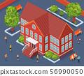 School Territory isometric Illustration 56990050