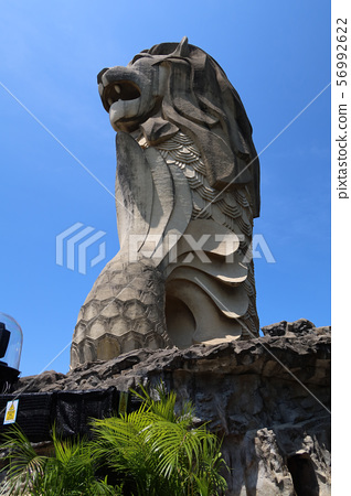 Merlion在聖淘沙島,新加坡 56992622