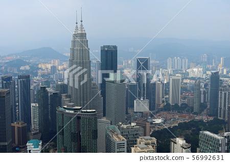 Petronas Twin Towers from Kuala Lumpur / KL Tower Sky Deck 56992631