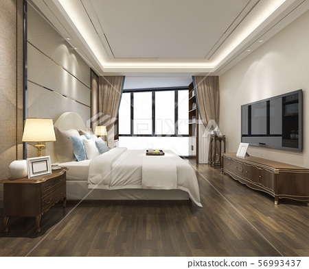 luxury modern bedroom suite in hotel 56993437