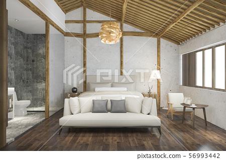 bedroom suite in resort with bathroom 56993442