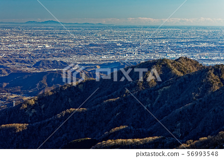 탄자 주맥에서 보는 관동 평야의 거리와 쓰쿠바 원망 56993548