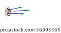 으로 향하는 화살 일러스트 CG 56993565