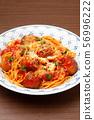 Meatball spaghetti 56996222