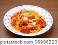 Meatball spaghetti 56996223