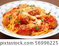 Meatball spaghetti 56996225