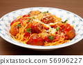 Meatball spaghetti 56996227