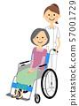 Nurse patient in wheelchair 57001729