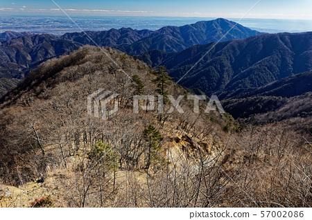 丹沢山 능선에서 볼 오오와 쇼난 · 관동 평야의 거리 57002086