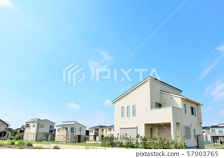 Blue sky and new house 57003765