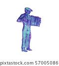Watercolor silhouette of man 57005086