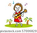 우쿨렐레를 연주하는 소녀 57006829