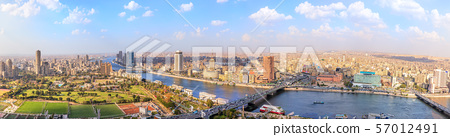 View on the Nile in Cairo, panorama from above, 57012491