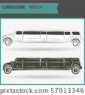 illustration of two vip limousine isolated on 57013346