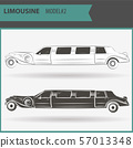 illustration of two vip limousine isolated on 57013348