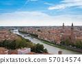 มรดกโลกทางวัฒนธรรมเวโรนา cityscape อิตาลี 57014574