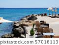 Beautiful beach cafe on the seaside 57016113
